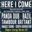 Concert HERE I COME #26 : PANDA DUB + TAMBOUR BATTANT + BAZIL