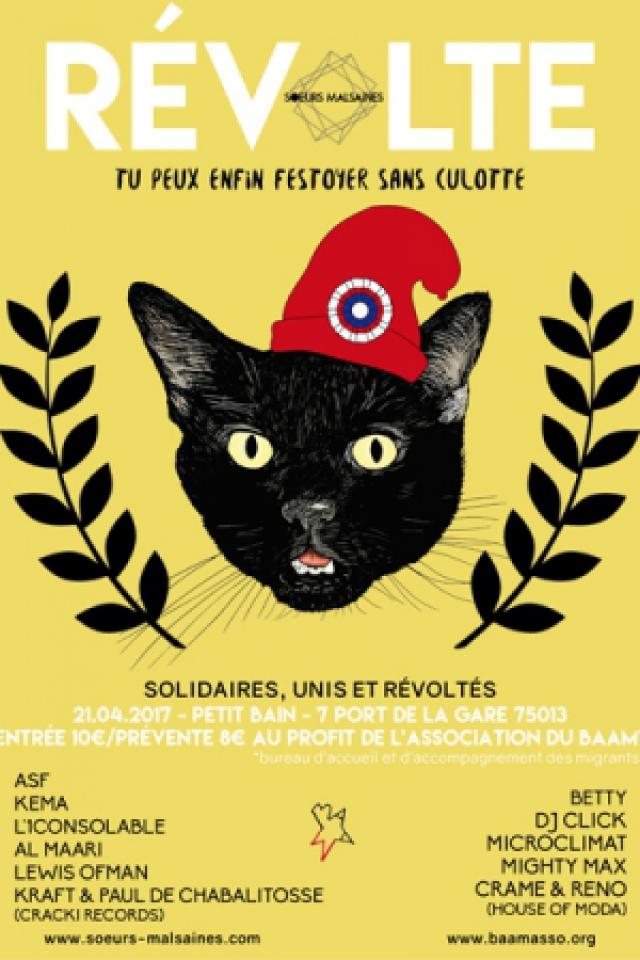 Soirée Révolte : Soeurs Malsaines x Le Baam à PARIS @ Petit Bain - Billets & Places